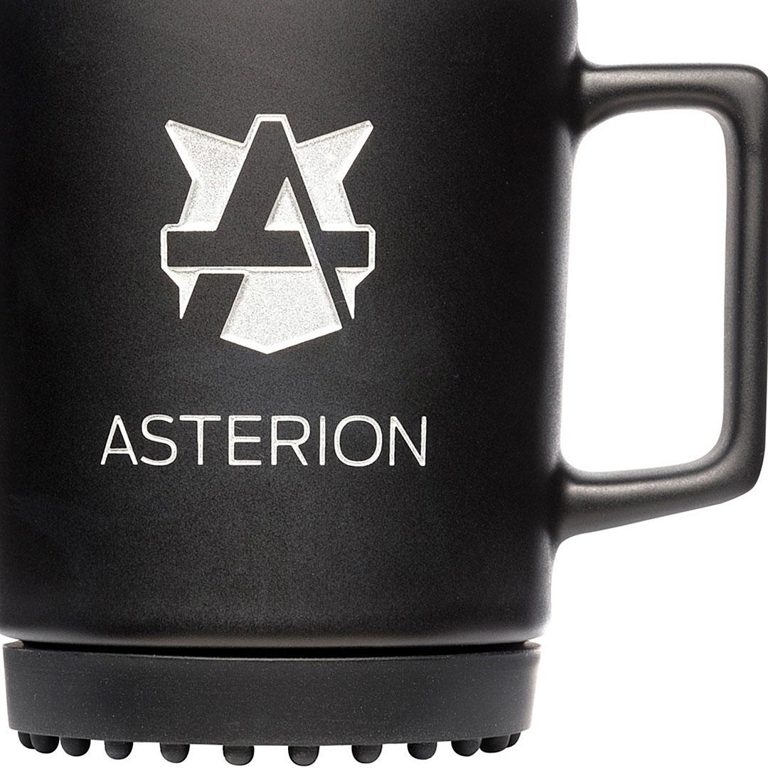 Schwarze Tasse mit Logo bedrucken
