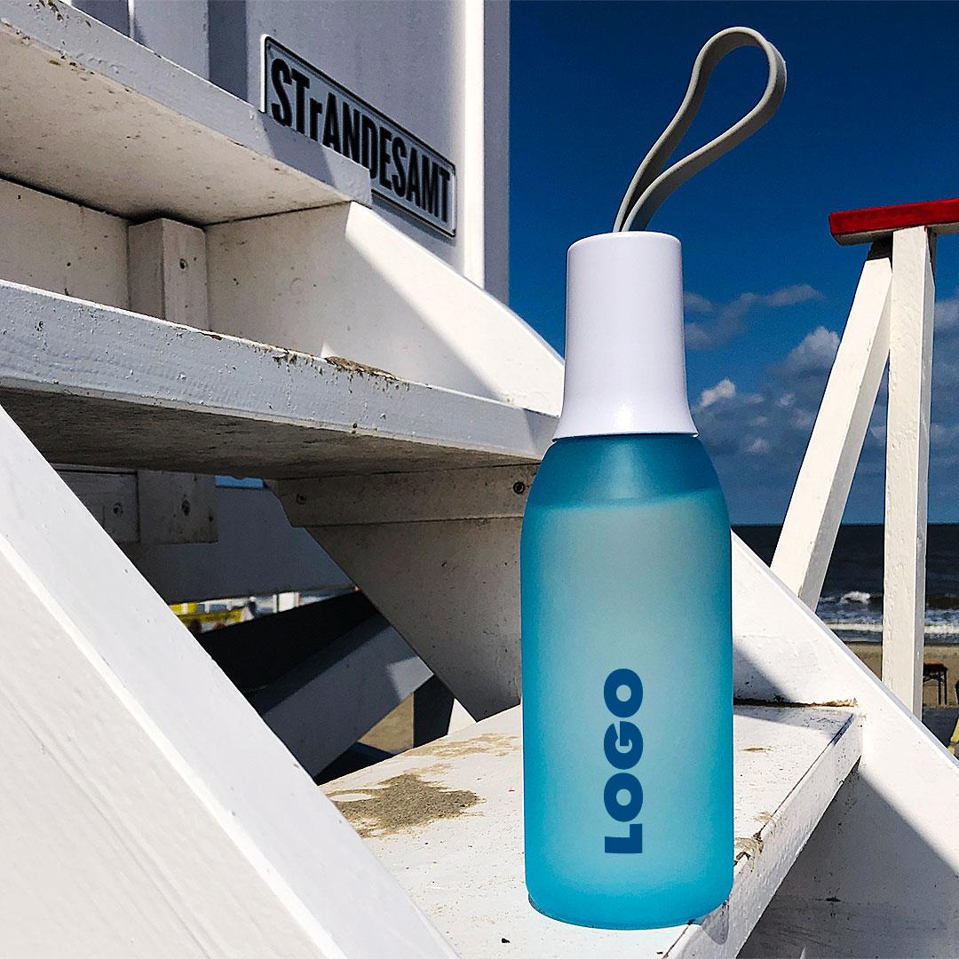 Kunststofftrinkflasche mit Logo bedrucken