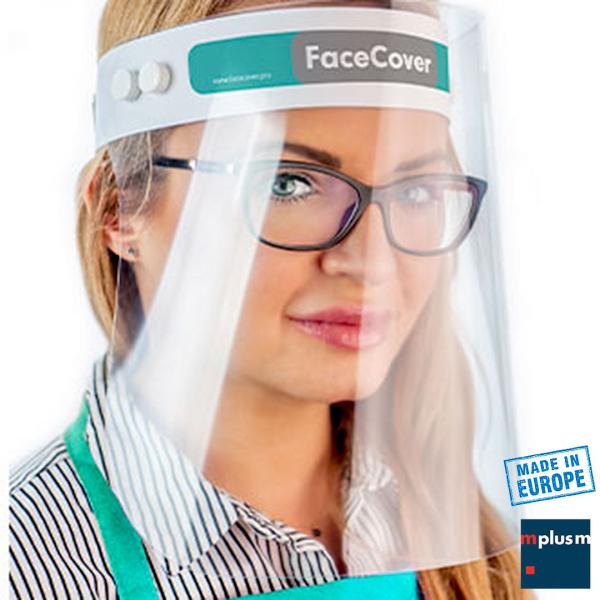Visier Gesichtsschutz. Transparenter Kunststoff. Gut zu reinigen. Gut mit Brille zu trageb. Ab 200 Stück mit Logo zu bedrucken.