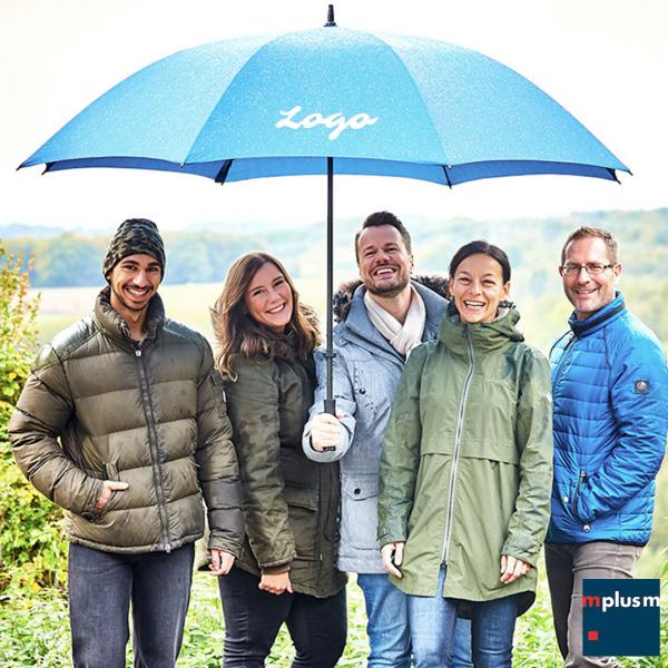 Extra großer und stabiler Golf Regenschirmfür 7 Personen. Als Werbeartikel schön mit Logo zu bedrucken.