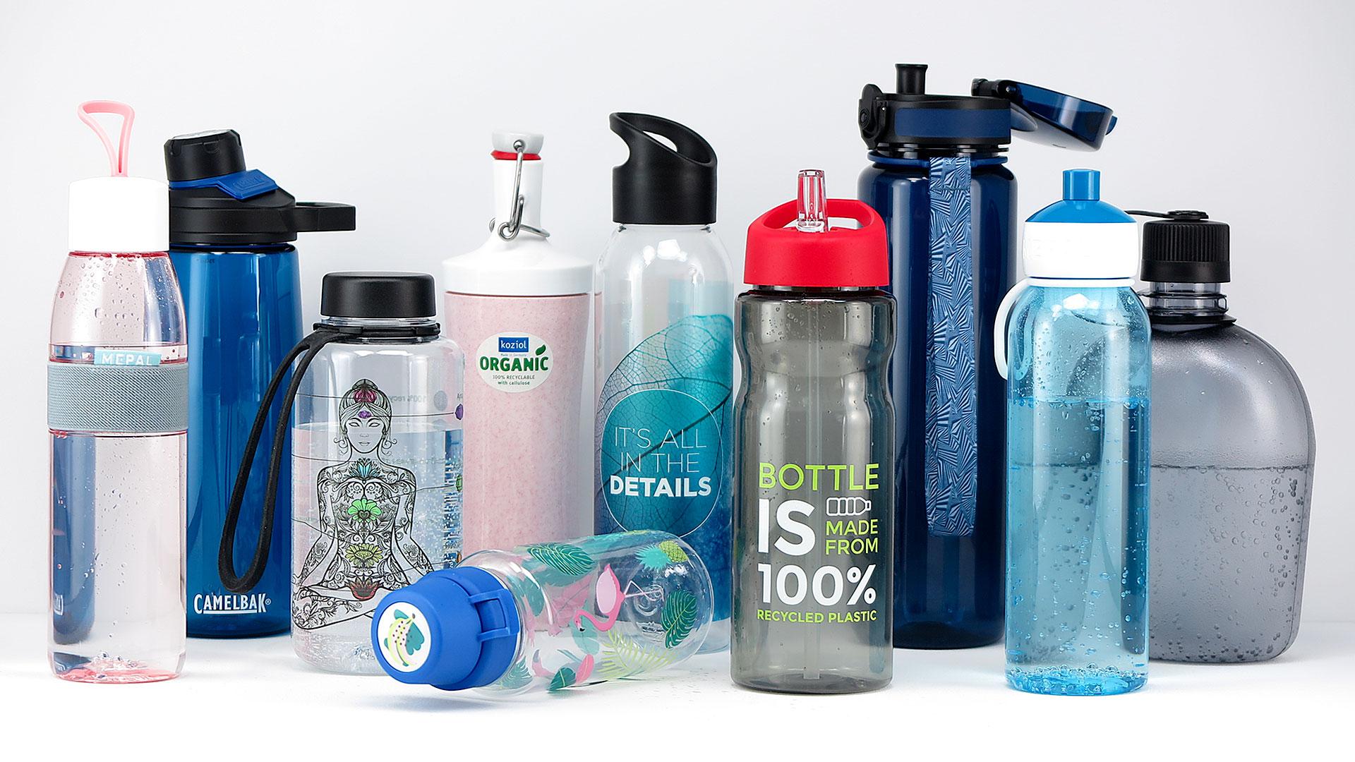 Nachhaltige Trinkflaschen aus langlebigem Kunststoff