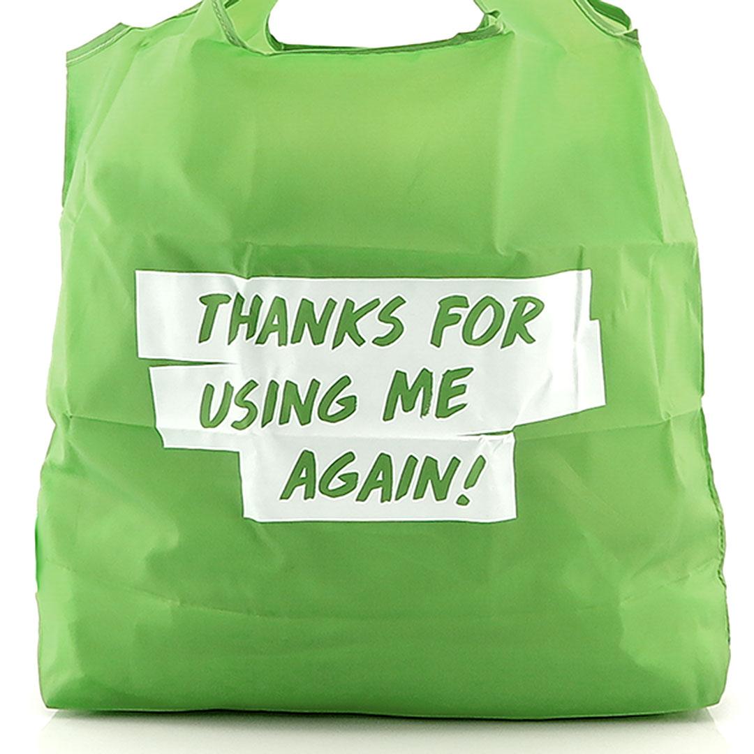 Falt Shopper aus Recycling Material mit Logo bedrucken