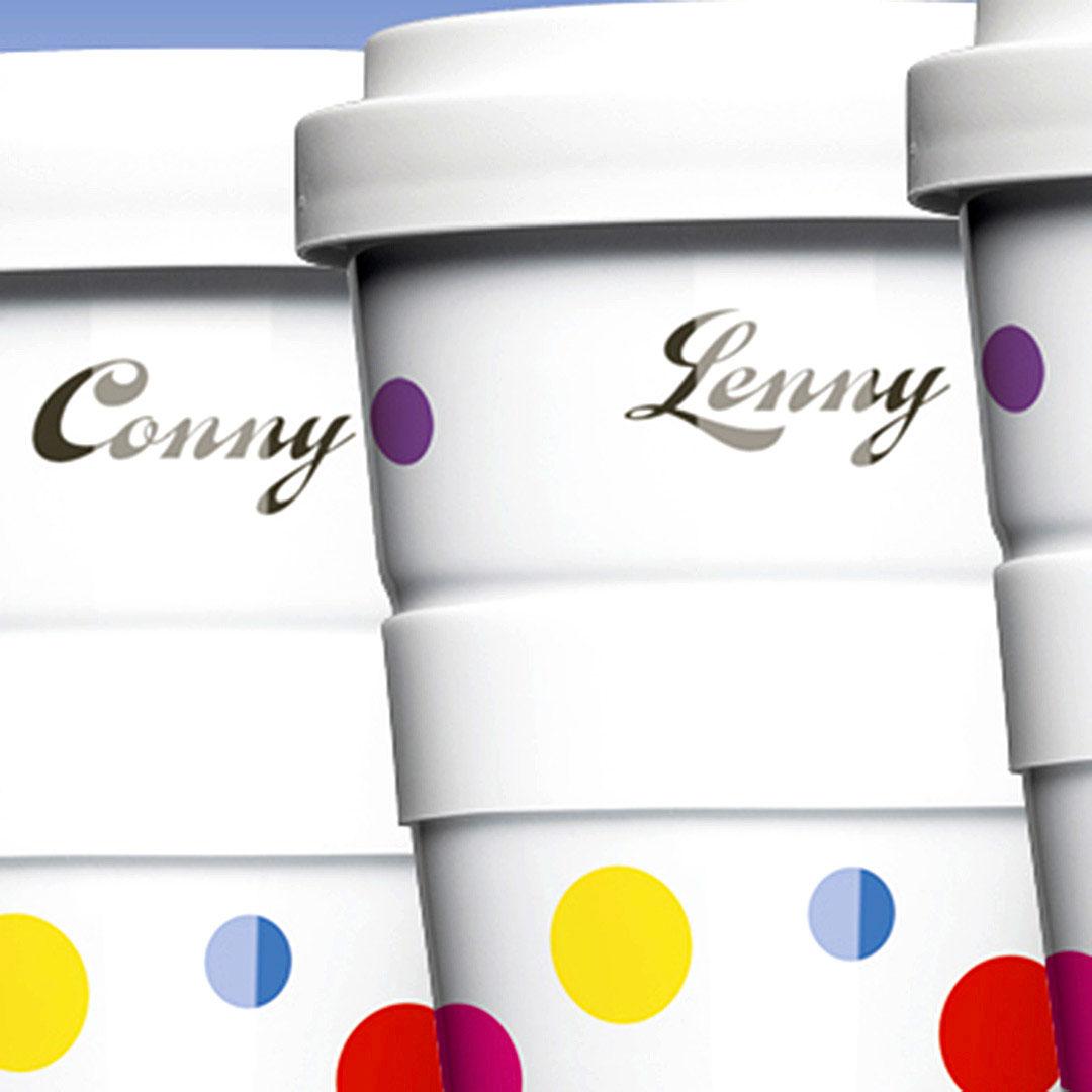 Porzellan Coffee To Go Becher mit Namensdruck