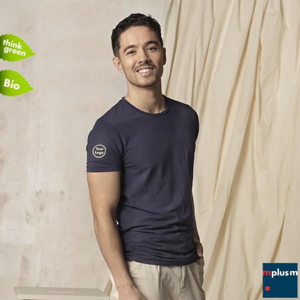 Nachhaltiges T Shirt aus Bio Baumwolle und Elastan: In 8 Farben und 7 Größen mit Logo Druck als Werbeartikel oder Team Ausstattung