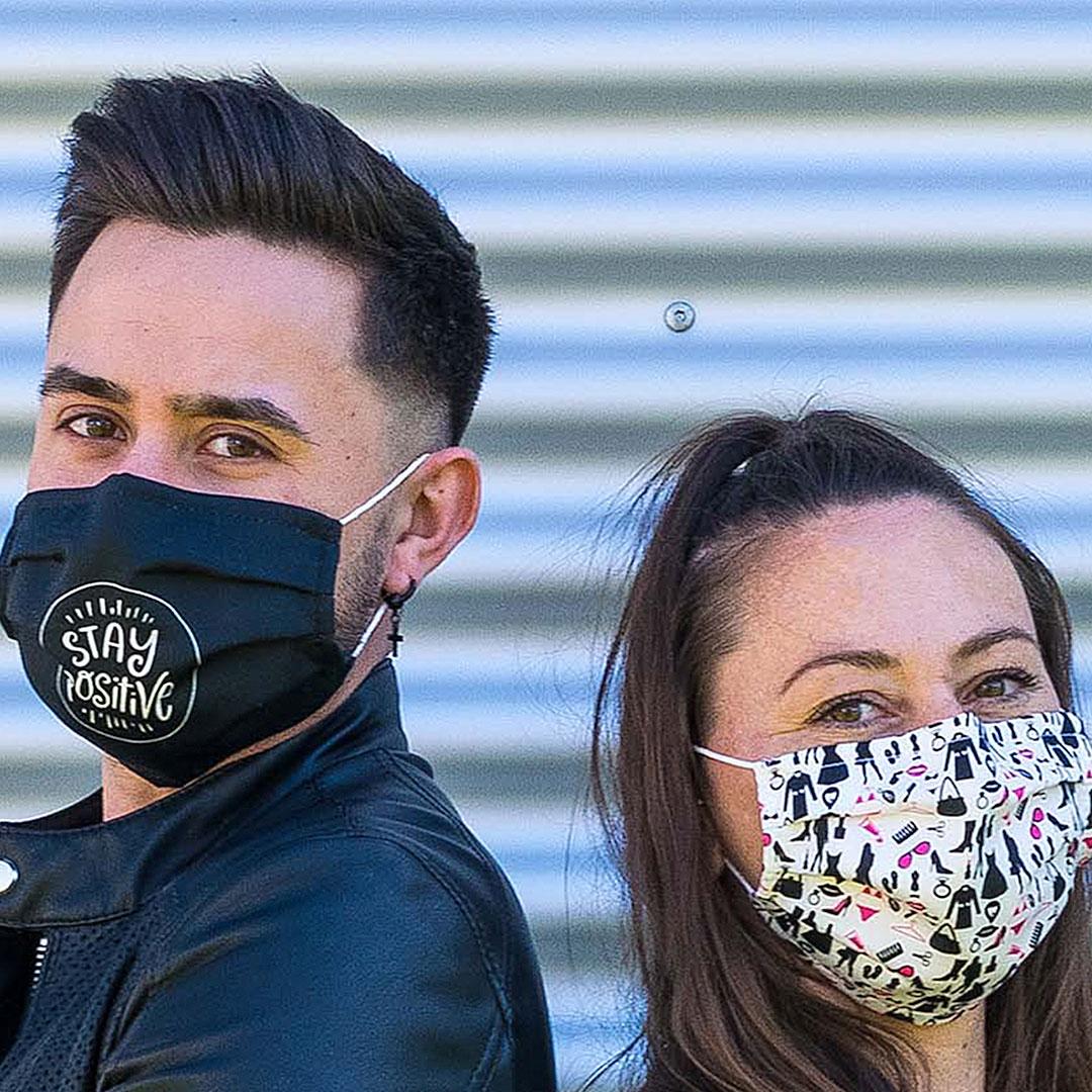 Stoff Masken mit Motiv bedrucken