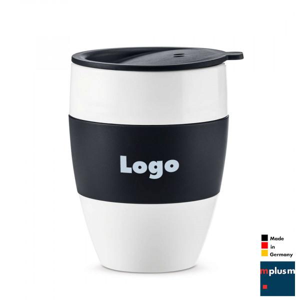 Nachhaltiger Cooffee To Go Thermobecher Made in Germany. Als Werbeartikel schön mit Logo zu bedrucken.
