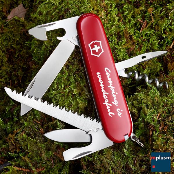 Für Camping und Outdoor: Victorinox Camper Taschenmesser. Als Werbegeschenk perfekt mit Logo oder Motiv zu bedrucken.