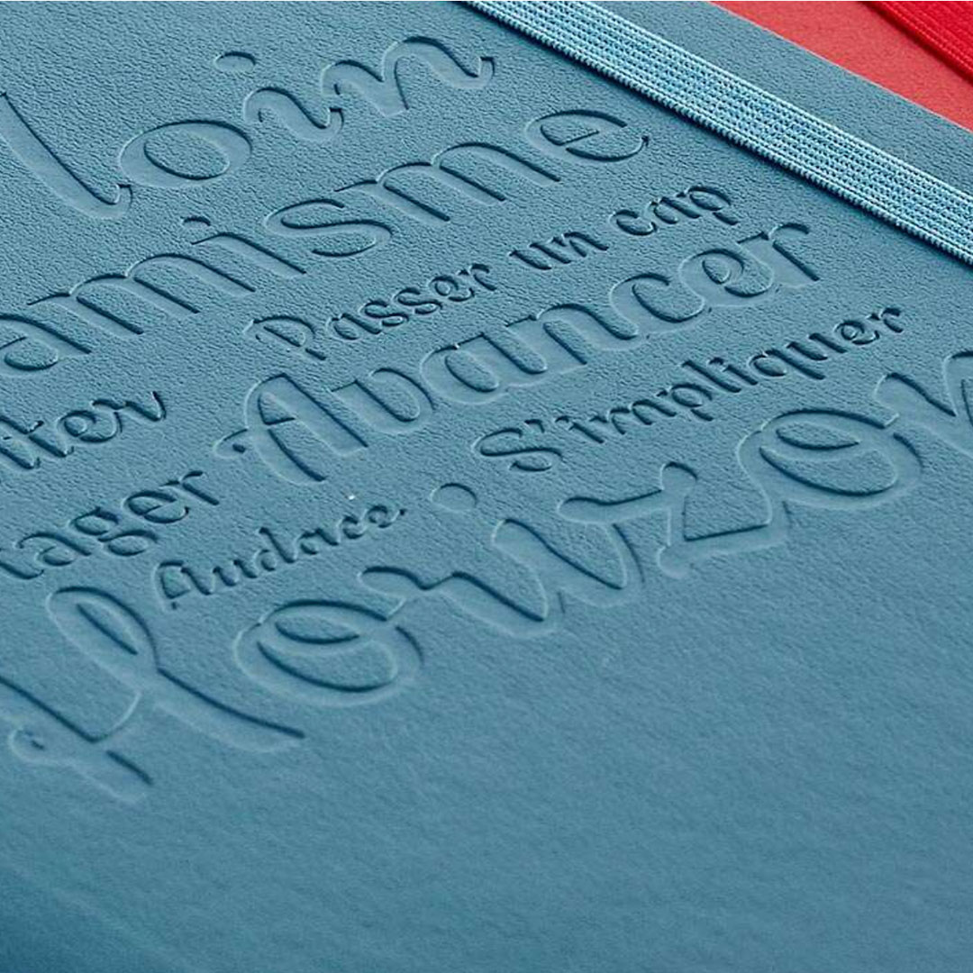 Moleskine Notizbuch mit Logo Prägung