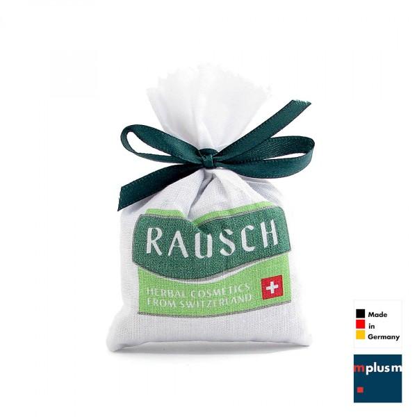 Duftsäckchen mit mehrfarbigem Logo-Druck als Werbeartikel