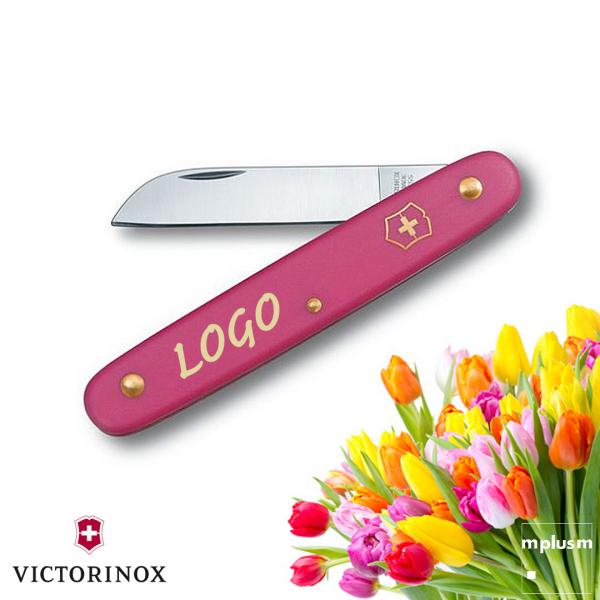 Schweizer Blumenmesser von Victorinox. Das Taschenmesser für den Gärtner. In vielen Farben und mit Logo Druck als Werbeartikel lieferbar.