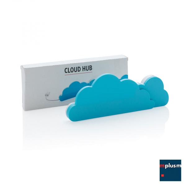 Cloud Hub USB Anschluss. Werbeartikel für den Tag im Home Office.