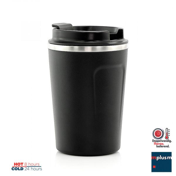 Super isolierter Edelstahl Kaffee Thermobecher. Als Werbeartikel ab 25 Stück mit Logo zu bedrucken.