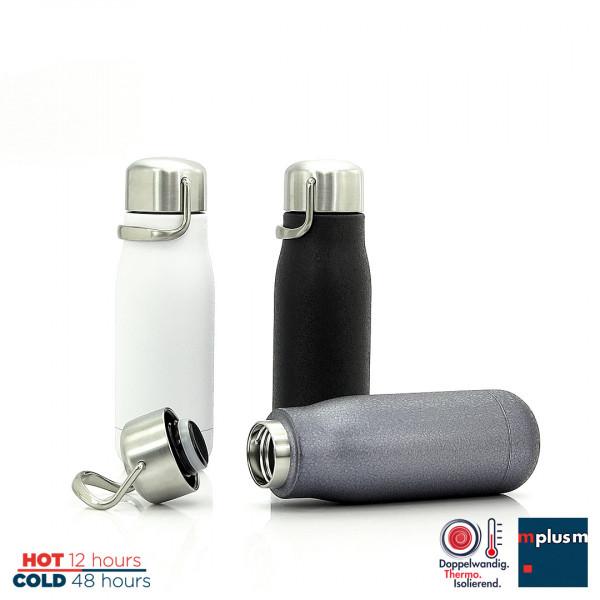 Praktische Thermosflasche mit schickem Edelstahl Deckel. Made in Europe.