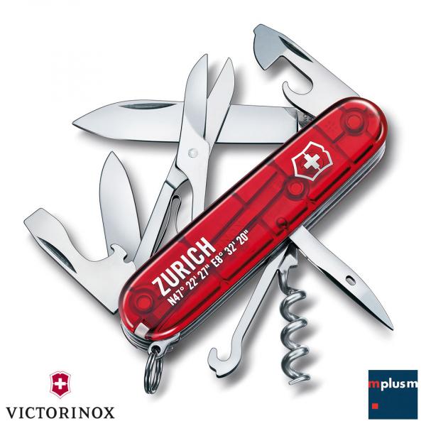 Klassisches Schweizer Taschenmesser Climber von Victorinox als Werbeartikel mit Logo Druck