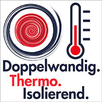 Thermosflasche superisoliernd
