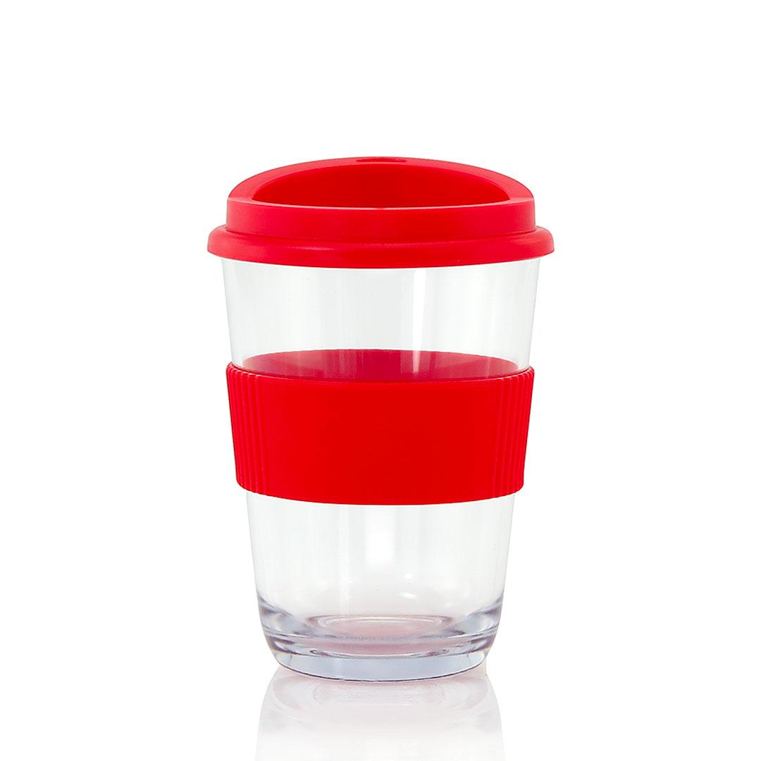 Transparenter Kunststoff Kaffeebehecher