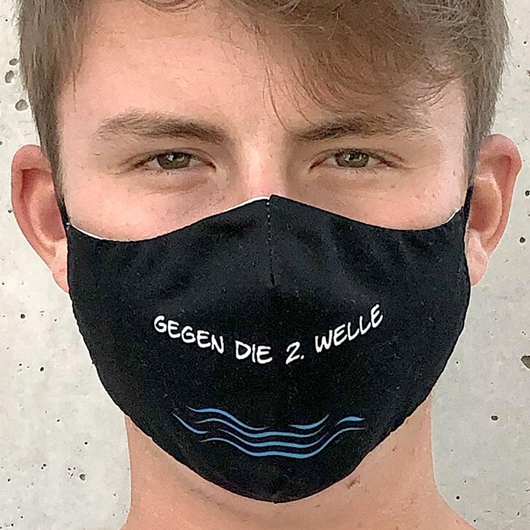 Stoff Gesichtsmaske mit Logo bedrucken