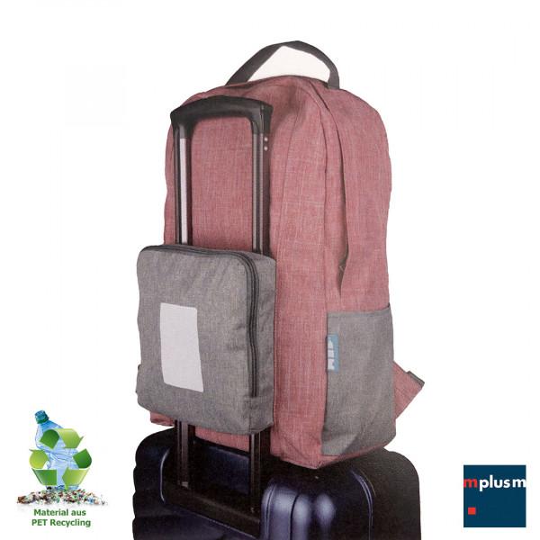Falt Rucksack aus PET Recycling Material. Nachhaltiger Werbeartikel und schön mit Logo zu bedrucken.