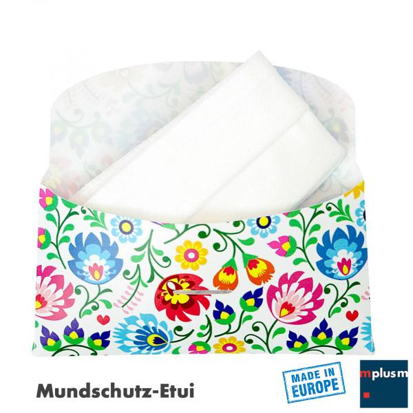 Etui Tasche für Mundschutz oder Gesichtsmaske. Ab 1000 Stück mit eigenem Logo oder Design zu bedrucken.