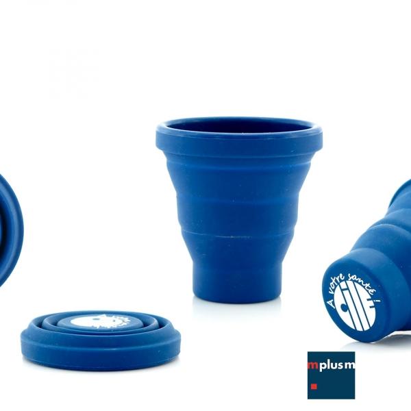 Faltbecher-Sillikon-Blau-mit-Logo-bedrucken-BL