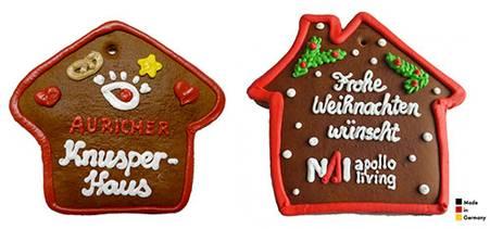 Werbeartikel Weihnachten.Lebkuchenhaus Werbeartikel Zu Weihnachten
