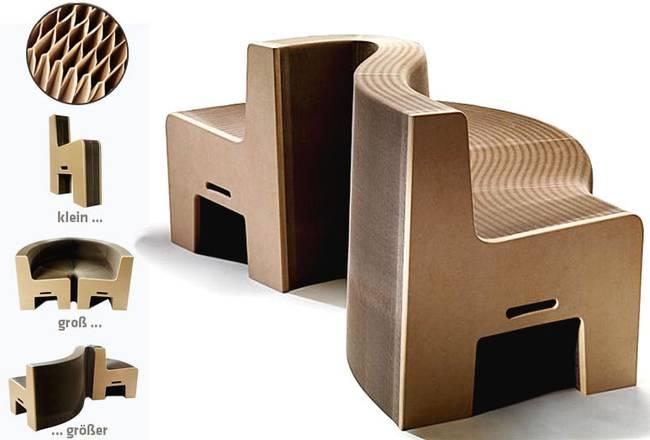 was f r eine idee ein ausziehsofa aus pappe steht auch im moma in new york mplusm. Black Bedroom Furniture Sets. Home Design Ideas